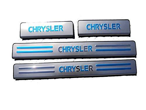 Para Chrysler 300C 2011-2015 Car-Styling Placas ProteccióN Umbral Puerta Coche,Placa sgaste Acero...