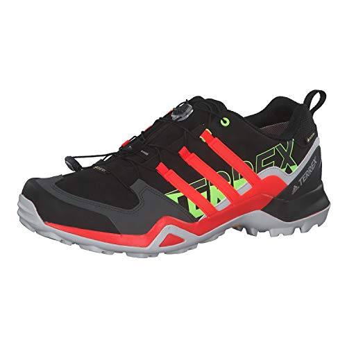 adidas Herren Terrex Swift R2 GTX Walking Shoe, Core Black/Solar Red/Signal Green, 44 EU