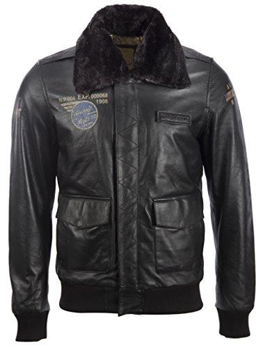 Aviatrix Chaqueta De Piloto De Aviador De Cuero Autentica Muy Elegante para Hombres con Insignias Especiales (VGS3)