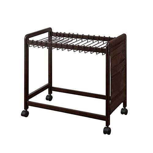 Xiaolin Holzhose Rack Kleiderbügel Fußboden-Schlafzimmer-Kleiderbügel Wäscheständer mit Flaschenzug