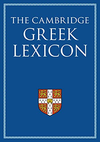 Compare Textbook Prices for The Cambridge Greek Lexicon 2 Volume Hardback Set  ISBN 9780521826808 by Faculty of Classics,Diggle, James