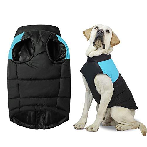 Shinmax Abrigo para Perros Chaqueta Cálida, Traje de Nieve a Prueba de Viento Chaleco para Perros Pequeños y Medianos Forro de Algodón Suave, Chaleco para Mascotas con Arnés con Anillo en D