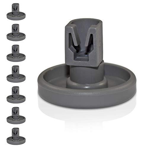 Universal Korbrollen für Spülmaschinen | 8 Stück Unterkorbrollen | geeignet für viele Spülmaschinen | 24 Monate Geld-Zurück Garantie! (Unterkorbrollen)