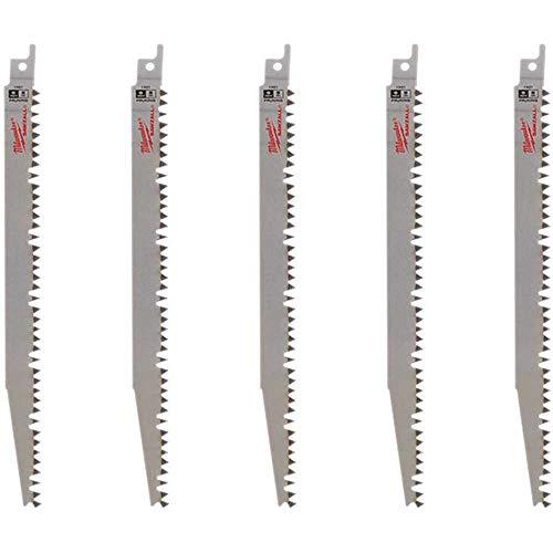 Milwaukee 48-00-1301 9 in. 5 Teeth per in. Pruning SAWZALL Reciprocating Saw Blades