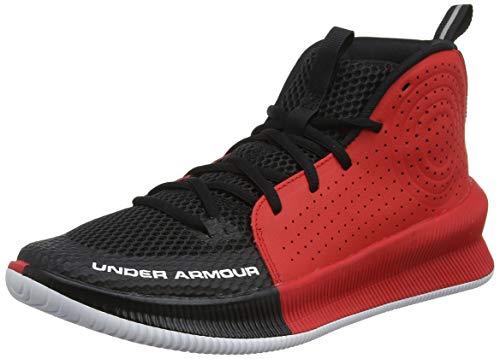 Under Armour Herren UA Jet Basketballschuhe, Schwarz (Black/Red/White (003) 003), 40 EU