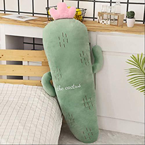 hokkk 50/70 / 120cm Largo Felpa Frutas Vegetales Plantas Peluche Almohada Pata Roja Fresa Piña Cactus Maíz Zanahoria 120cm Cactus