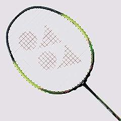 Yonex Original US version Strung:Yonex BG65 @ 24lbs (No YY Logo) Flex:STIFF /Frame:H.M. Graphite /Shaft: H.M. Graphite, NANOMESH+, CARBON NANOTUBE Weight / Grip Size: 4U (Ave.83g) / G5 Color:Black / Lime