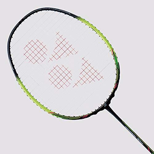 YONEX Nanoray 70 DX Badminton Strung Racket (BK/LM)(4UG5)(Strung with BG65 @ 24lbs)