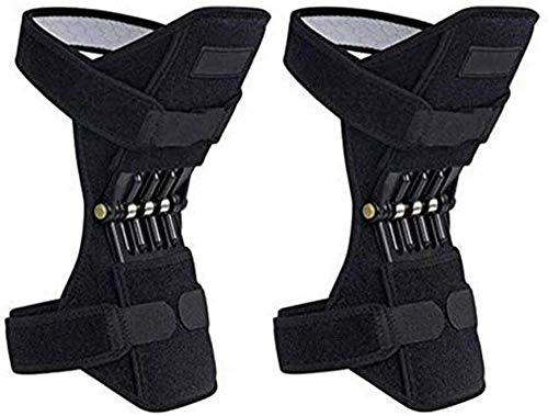 WMY Mountaineering Booster, Knee Pad Booster Joint Support Pad Spring Knee Brace Knee Pads, Mechanical Lifters for Hiking, Running, Stair Climbing, Gym Squats