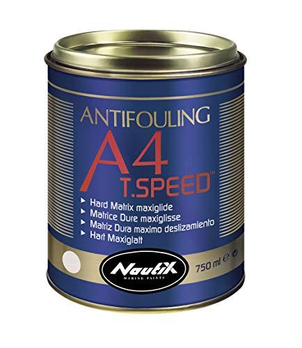 Nautix A4T.Speed Antivegetativa dura e scorrevole con Teflon per barche da regata (2.5 lt, nero)