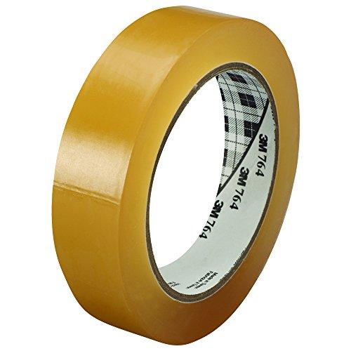 "Price comparison product image 3M 764 Vinyl Tape,  5.0 Mil,  1"" x 36 yds,  Clear,  6 / Case,  3M Stock 7000123889"
