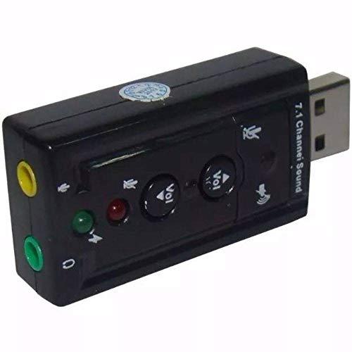 Adaptador Placa de Som USB 7.1 com P2 PC Notebook