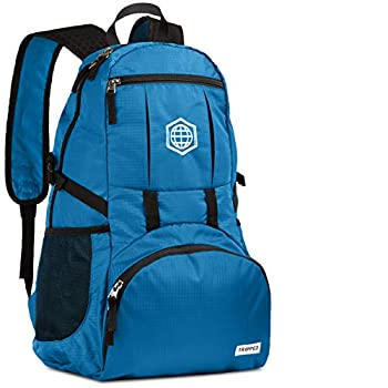 Traveling Backpack- Foldable Collapsible Lightweight Backpack for Travel  Light Blue