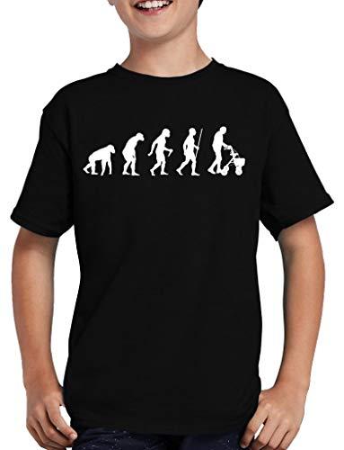 Evolution Rollator T-Shirt Kinder Oma Spass Fun Nerd 122/128 Schwarz