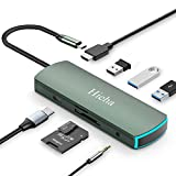 Hieha USB C Hub, 8 in 1 USB C Adapter Typ C Dockingstation mit 4K HDMI, 3*USB3.0,PD...