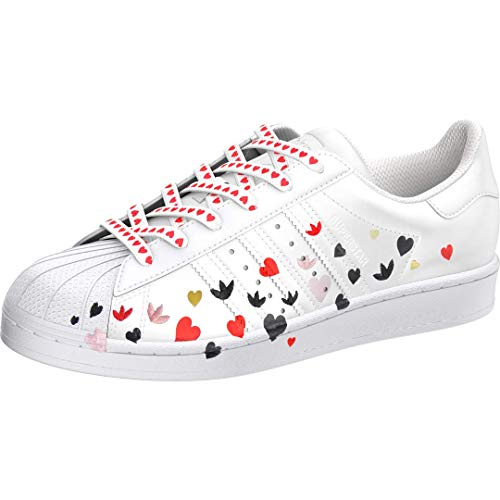 adidas Originals Superstar, Zapatillas Mujer, Blanco Core Negro Glory Rosa, 42 EU