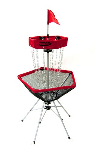 Innova DISCatcher Traveler Target – Portable, Lightweight Disc Golf Basket, Colors May Vary, Red