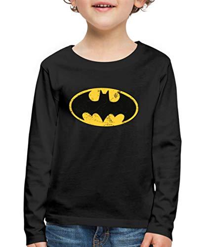 DC Comics Batman Logo Usé T-Shirt Manches Longues Premium En