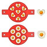 Lot de 2 Moule à Crêpe en Silicone Antiadhésif, Moule de Omelette en...