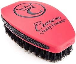 360 Sport Wave Brush Caesar 2.0 – Red Velvet - Soft – 100% Boar Bristles
