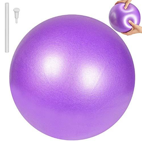 Tuopuda Pelota de Ejercicio para Fitness-Pequeño Fitness Pelota de Ejercicio,Balones de Ejercicio Pelota de Equilibrio para Yoga Fitness Pilates Deportes Gimnasio 25 cm (Púrpura)
