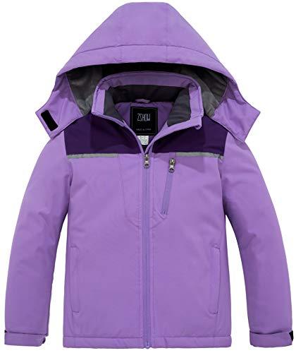 NEW Girls SPYDER Size XL 18 Fleece Jacket Caliper Core Hybrid Purple Winter Kids