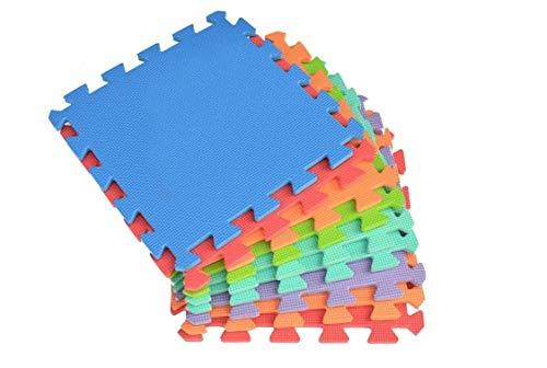 Mediawave Store - Tappeto da Gioco Puzzle 2814 componibile colorato con 10 Pezzi 30x30cm