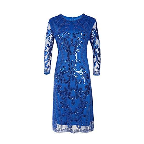 Oksea Damen Kleid 1920er Jahre Abendkleid Damen Pailletten Kleid 1920er Jahre inspiriert Pailletten Perlen Lange Quaste Einsätze Kleid Damen Gatsby Kleid