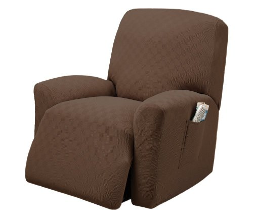 Stretch Sensations, Newport Recliner Slipcover, Regular Recliners, Perfect Chair Protection, Comfortable Easy Stretch Fabric (Cocoa)