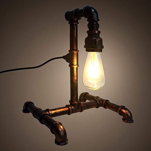 KDXBCAYKI vintage tafellamp retro industrieel ijzer voor nachtkastje kleine tafellamp licht