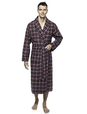 Noble Mount Mens Premium 100% Cotton Flannel Robe