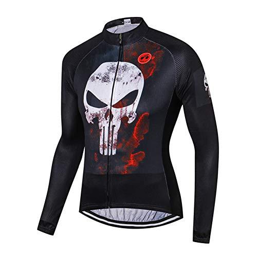 Maglia da ciclismo manica lunga da uomo a tema cartone animato, maglietta per bicicletta a ciclo compresso anti-sudore ad asciugatura rapida Maglie bici primavera estate
