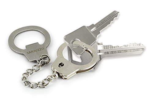 Barbuzzo Key Cuffs Bottle Opener - a Great Novelty Item That Every Home Bar and Every Man Cave Should Have to Amuse Friends, Family and Colleagues All Night Long
