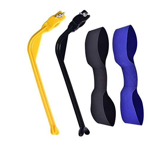 Paquete de 4 herramientas de corrección de swing de golf y banda de apoyo para el entrenamiento de columpio, unisex Golf Posture Motion Correction Trainer - Golf..