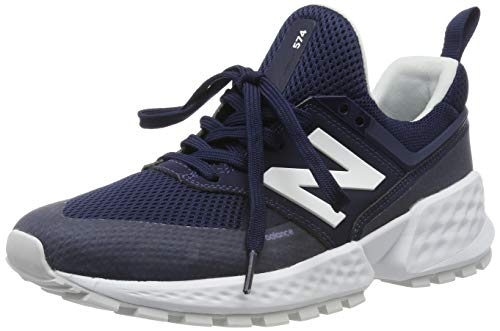 New Balance Herren 574 Sport Sneaker, Pigment-Pigment blau, 43 EU