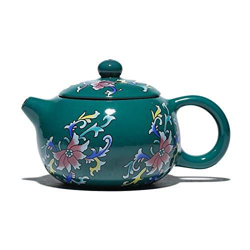 Juego de té tetera De Arcilla Púrpura Yixing De Esmalte De 80 Ml, Pequeña Tetera Xishi Hecha A Mano, Caja De Regalo Para Enviar