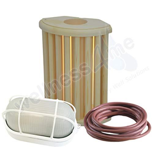 WelaSol® Lampenset Lampenschirm 915, Saunalampe, 3 m Silikonkabel
