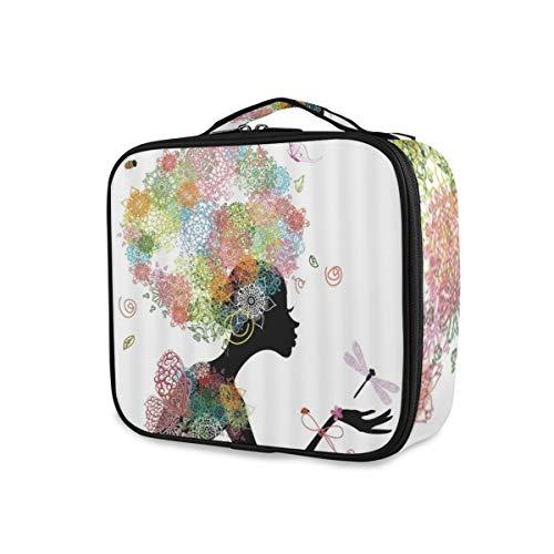 SUGARHE Fleur Fée Fille avec Ressort Décoratif Couleur Papillon,Sac cosmétique Multifonctionnel La beauté