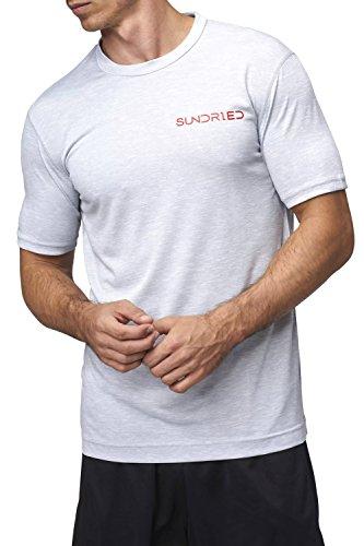 Sundried heren fitness yoga en gym eco T-shirt gemaakt van gerecyclede koffie en flessen