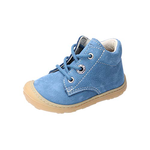 RICOSTA Unisex - Kinder Lauflern Schuhe Cory von Pepino, Weite: Mittel (WMS),terracare, detailreich Freizeit schnürschuh Kids,Jeans,22 EU / 5.5 Child UK