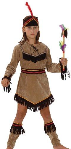 Boland 86944 – Costume de Bottes Indianerin Petit adlerin, avec Robe, Ceinture, Jambières et Bandeau pour Enfant, 10–12 Ans