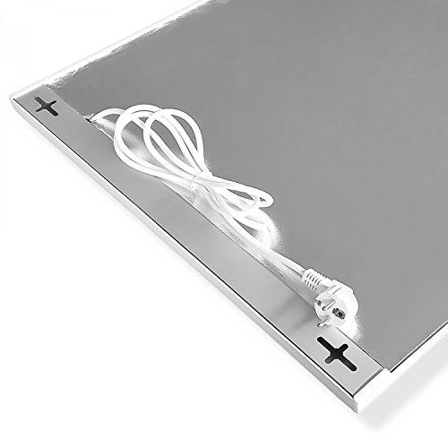 Viesta H1200 Infrarotheizung Carbon Crystal (neueste Technologie) Heizpaneel Heizkörper Heizung Heating Panel ultraflache Wandheizung Weiß 1200 Watt TH12 Thermostat Bild 6*