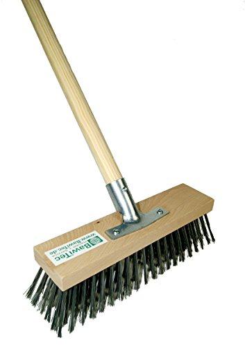BawiTec Stahldrahtbesen Drahtbesen 30cm mit Stiel 140cm 160cm Stahlbesen Holz (mit Stiel 160cm)