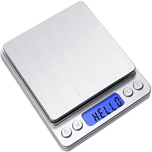 Digital Food Kitchen Scale, Multifunction Scale Measures in Grams and Ounces for Weight Loss, Baking, Cooking, Keto and Meal Prep 1g/0.1oz Precise Graduation(3000g/0.1g,Silver)