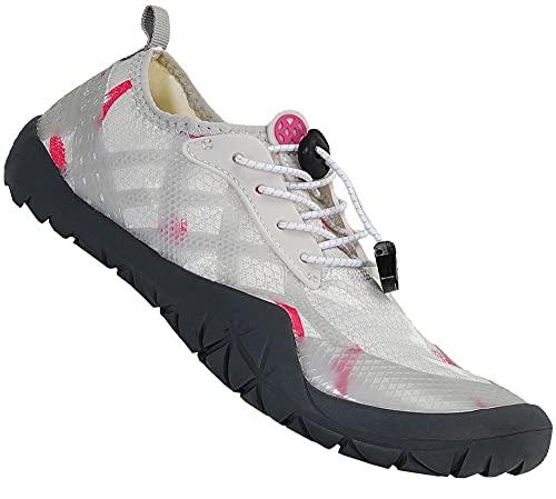 Gaatpot Escarpines de Surf para Mujer Hombre Zapatos de Playa Zapatos de Agua Barefoot Deporte Secado Rápido Yoga Aptitud Aire Libre Blanco 43EU