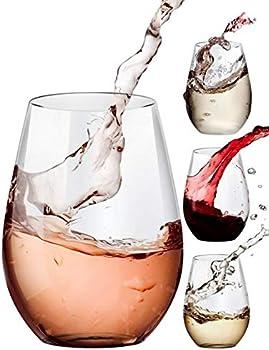 4-Count Amallino Stemless Wine Glasses, 20oz Set