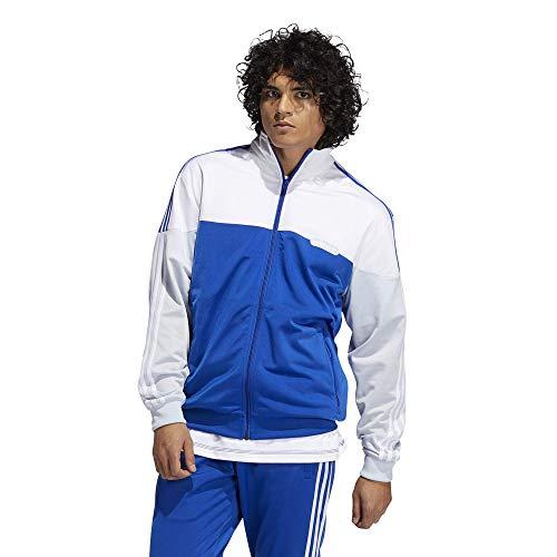 adidas Originals Camiseta para hombre Split Firebird Track - azul - Large