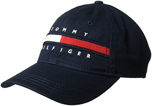 Tommy Hilfiger Men's Dad Hat Avery, Navy Blazer, O/S