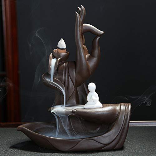 Räucherkegel, Keramik-Wasserfall-Räucherkegel mit 10 Aromatherapie-Ornamenten für Zuhause, Dekoration, Geschenk Stil 2