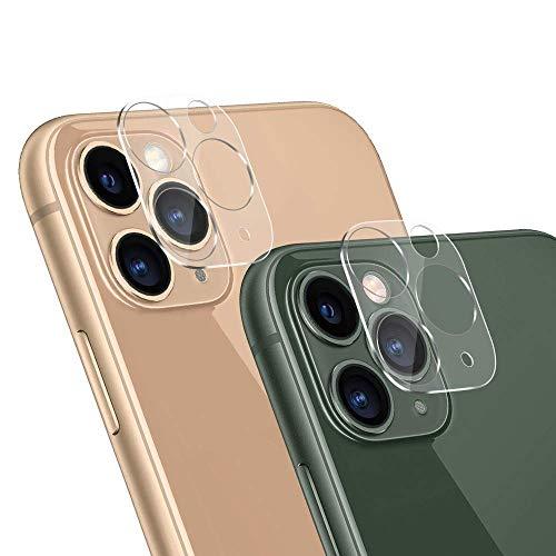 for iPhone11 Pro/11Pro Max カメラフィルム レンズ 強化ガラス 保護フィルム 100%高透過率 3D全面保護フィルム 強度9H 飛散防止 アイフォン11 pro/ iphoneプロマックスフィルム (2枚セット)